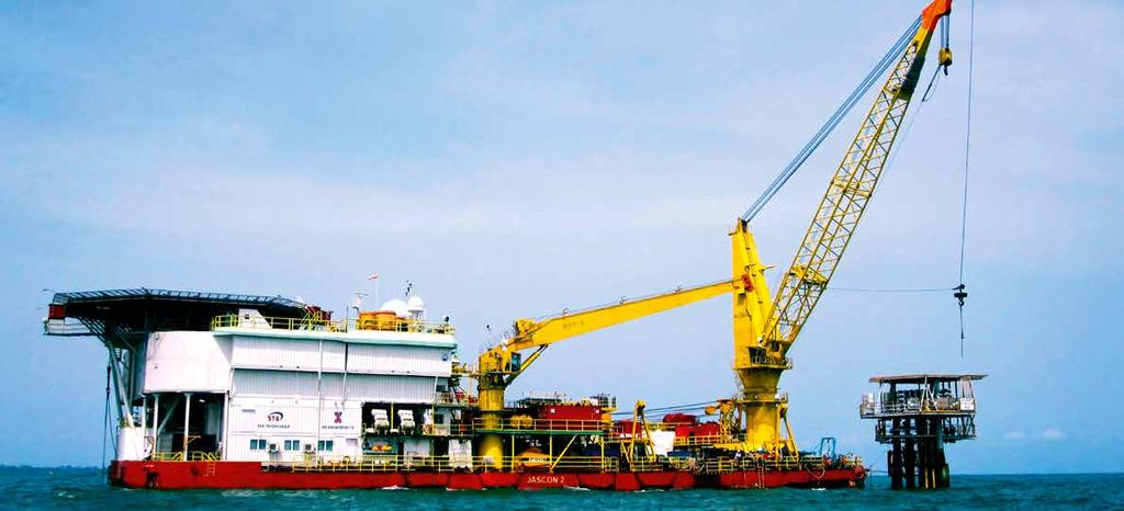 JASCON 2 Pipelay ACCOMMODATION BARGE Generator sets mooring system 8-pnt mooring system Anchors 79.40 m 35.35 m 4.27 m 2.50 / 3.
