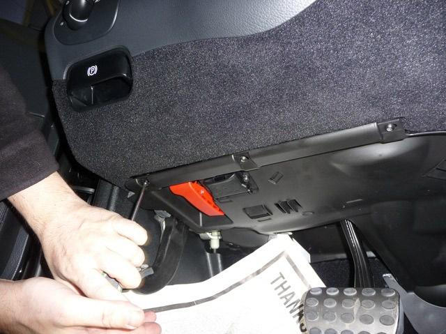 31. Once you are satisfied with its operation, shut down the remote start by pushing the panic button once. 32. Locate a place to secure the control module in the dash. 33.