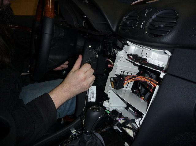 Pull dash panel to expose wiring EIS wiring unplugged