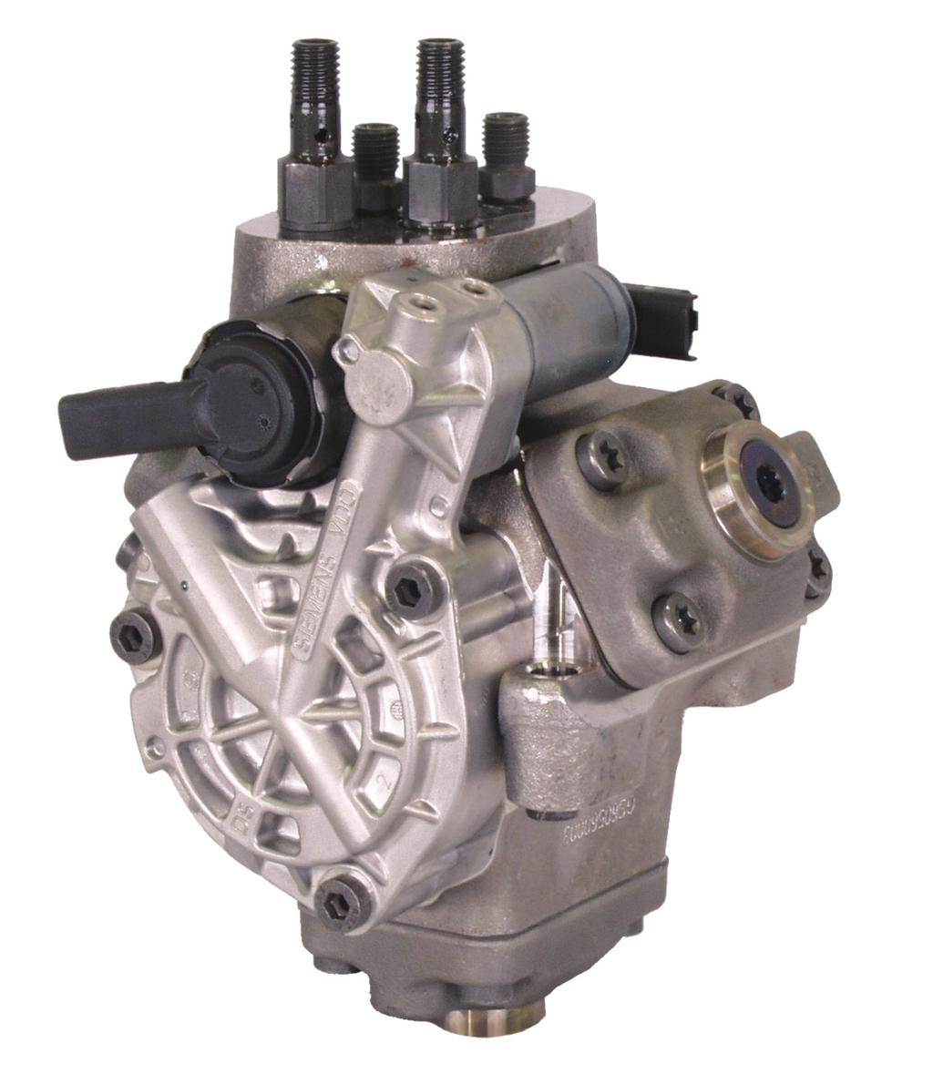 The pump is a three (3) piston rotary style pump that is driven by the rear gear train.