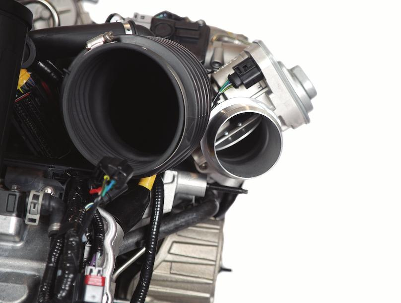 4L Power Stroke Diesel is made of aluminum and directs the flow of air to the intake ports in the cylinder heads.