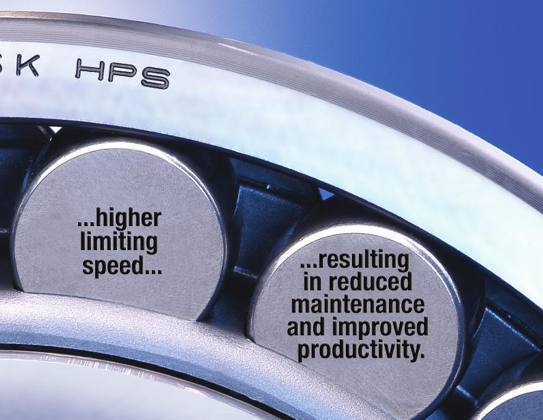 NSK HPS spherical roller bearings give you exactly what you need: Longer bearing life.