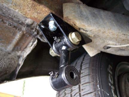 » Once the clevis brackets are installed, loosen, but do not remove, the U-bolts holding the axle clamps.