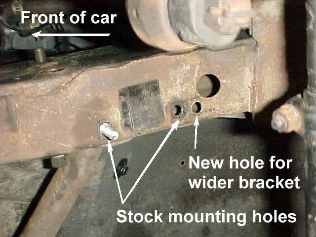5) Every vehicle should have two holes on the passenger side and four holes