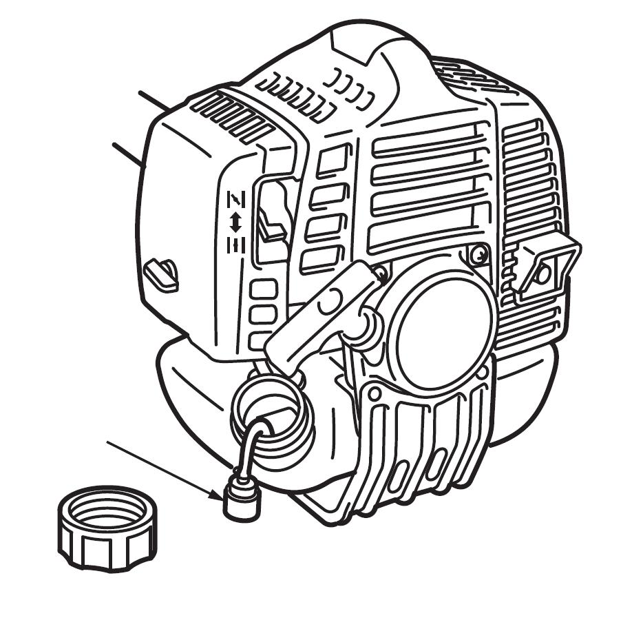 MAINTENANCE FUEL FILTER When the engine runs short of fuel, check the fuel cap and the fuel filter for blockage.