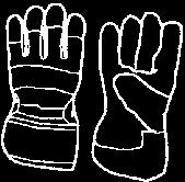 FOR SAFE OPERATION GLOVES Gloves should be worn when necessary, e.g.