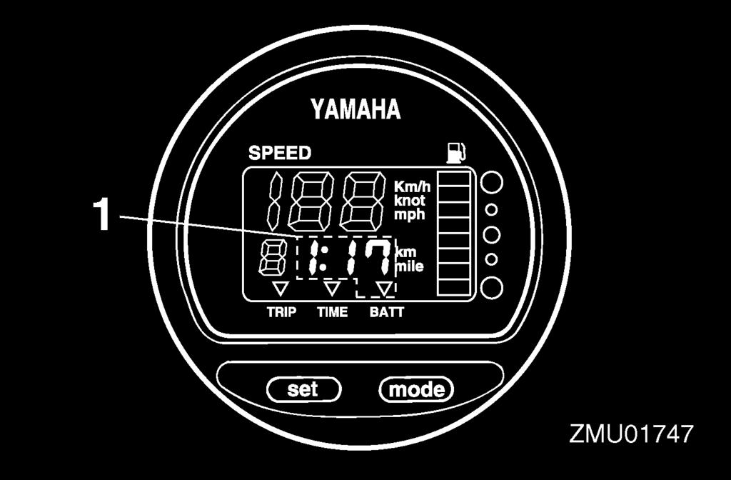 Instruments and indicators Get back to the port soon if an alert device has activated. For charging the battery, consult your Yamaha dealer. The clock operates on battery power.