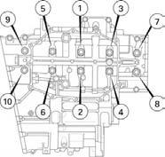 Do not rotate the crankshaft during inspection. PLASTIGAUGE Install the three dowel pins (page 13-24).