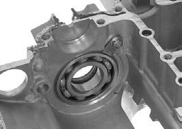COUNTERSHAFT BEARING REPLACEMENT Separate the crankcase halves (page 13-6).