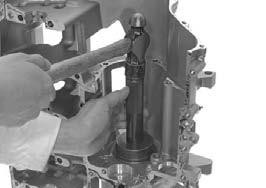 Remover weight 07741-0010201 Remove the countershaft oil seal from inside of the crankcase.