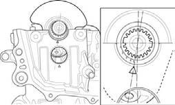 4. Place the crankshaft onto the upper crankcase so that the No.1 piston at TDC (Top Dead Center).