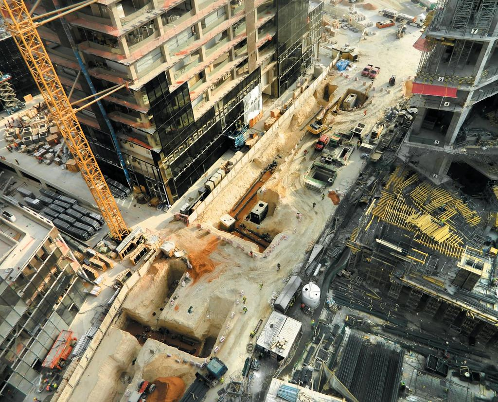 TIMELINE WORLD WIDE CONSTRUCTION ACTIVITIES PHYSICAL DISTRIBUTION OF PROJECTS HUMAN RESOURCES