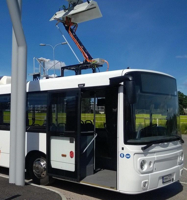 160-240km Electric Bus System 1x 350kW end-stop charging event
