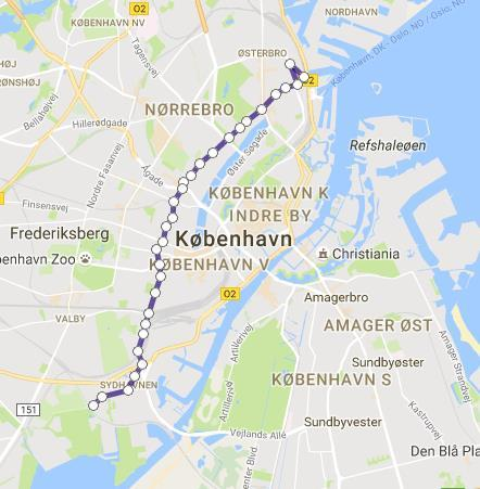 Case Copenhagen 3A Vallbypark - Nordhavn 10,9 km A B Average speed 20 kmh 31 stops Daily mileage 160-240km Electric