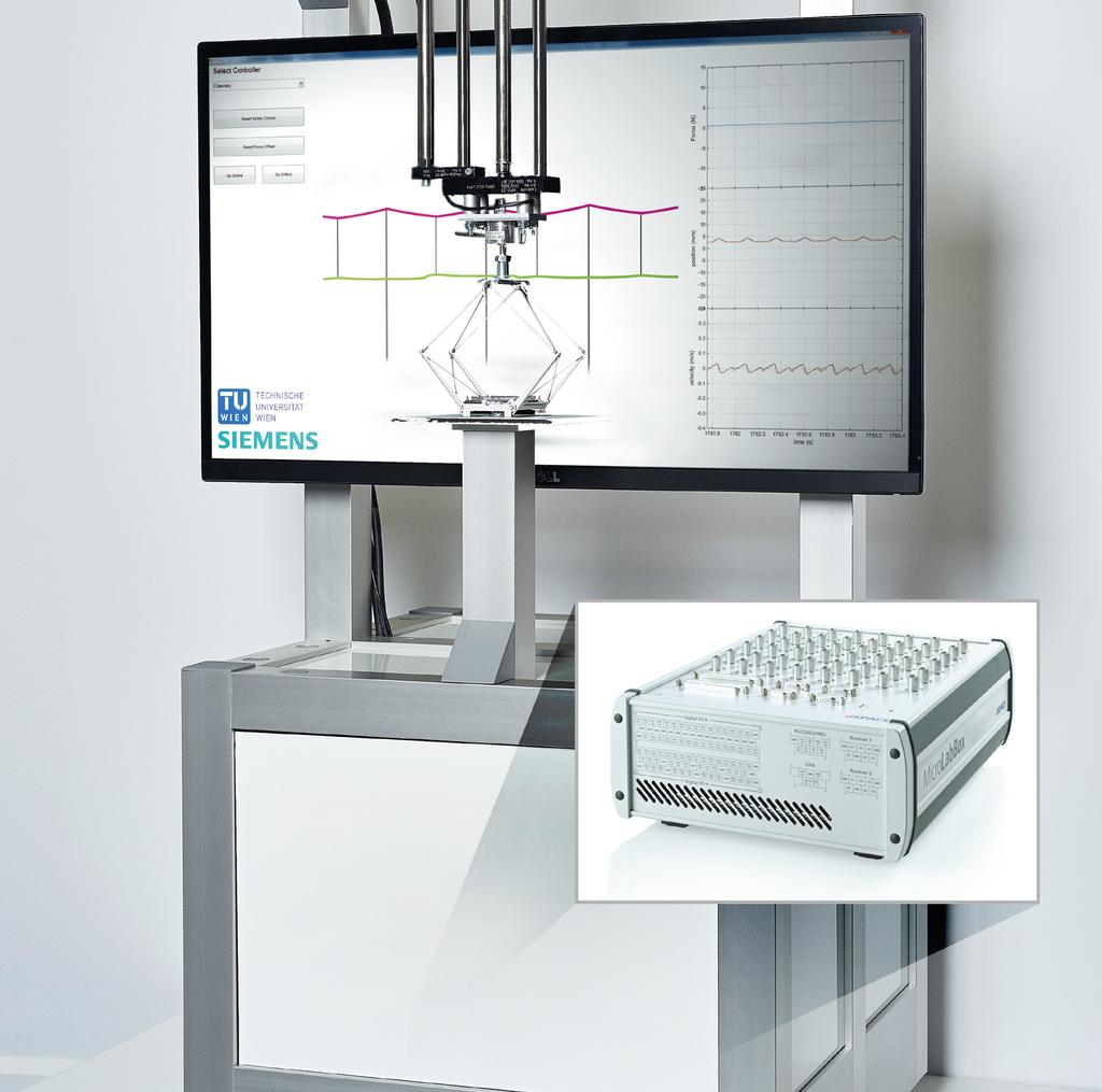 PAGE 30 CUSTOMERS Source: Vienna University of Technology Figure 4: A MicroLabBox was used to build a smaller demonstrator model of the pantograph test bench.