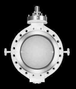 DeZURIK standard High Performance Butterfly Valves are available with standard steam jackets for less rigorous requirements, but Tail Gas Valves include unique features which keep the valve at