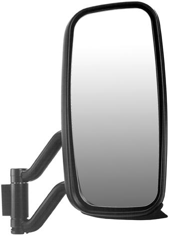 External Mirrors Volvo Volvo Black plastic mirror head. Mirror head: 367 x 82 mm. Mirror glass: 355.5 x 69.5 mm. Mounted on 8/22 mm dia. arm.
