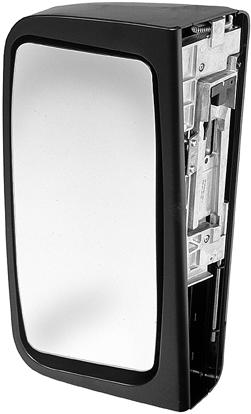 Bus Mirrors EvoBus (Mercedes-Benz) Citaro, EvoBus (Setra) Combibus Black/grey plastic mirror head. Mirror head: 479 x 20 mm. Mirror glass: 400 x 65 mm. Radius of curvature: 800 mm.