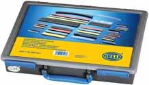 Superseal-Assortments 9MJ 78 458-80 Heat-shrink tubing assortment Case with various heat-shrink tubings. (reorder quantity is the same as the quantity in the set). Piece Colors Length Dia.