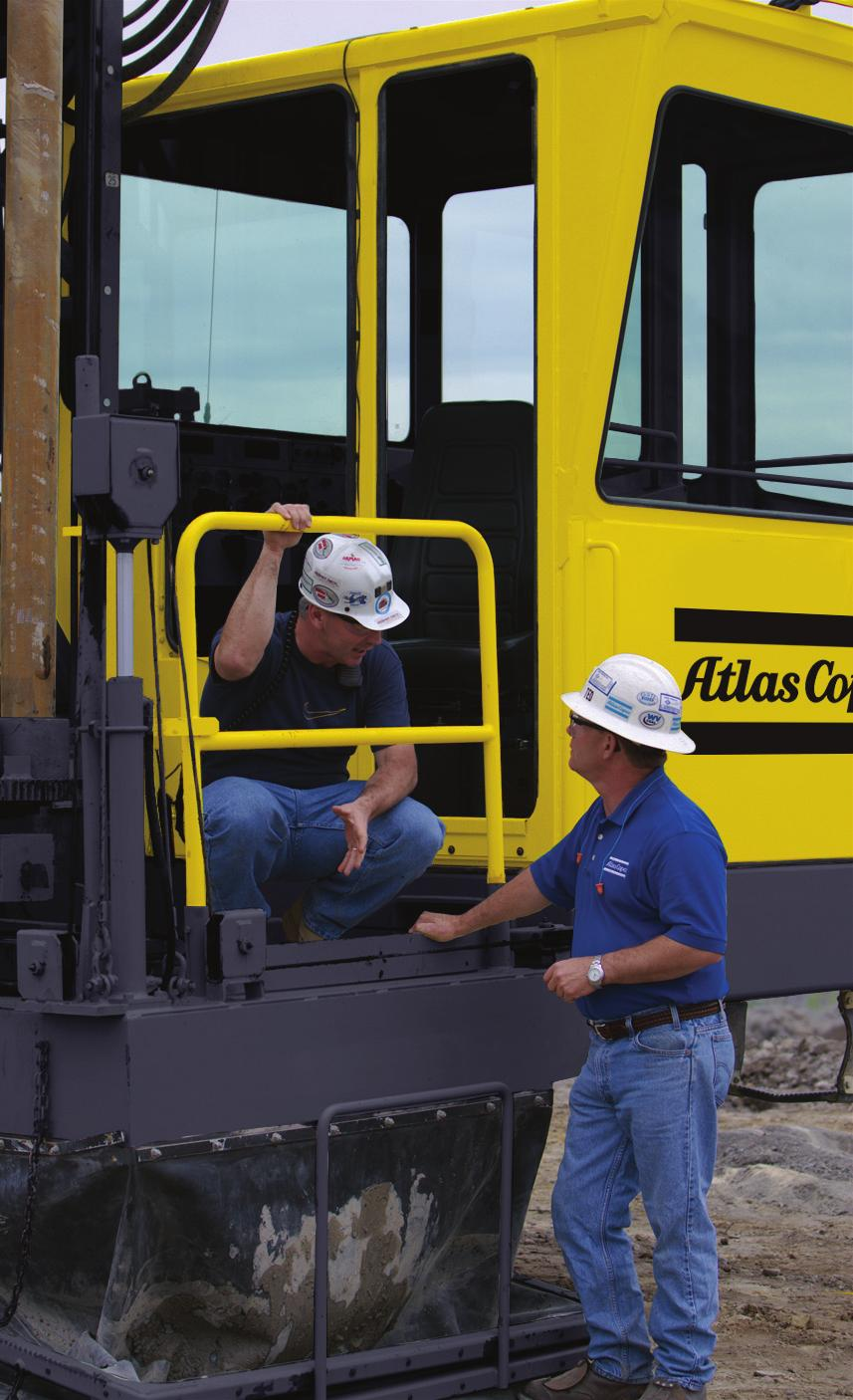 Committed to your superior productivity Worldwide Dealer Network With the largest distribution network in the industry, Atlas Copco has a sales center near you providing products, accessories, and
