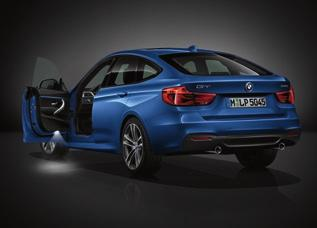 The standard LED headlights coupled with LED rear lights, further enhance the BMW 3 Series Gran Turismo s stylish appearance.