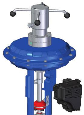 MSP Series - Features Yoke with Integral Duct Diaphragm Stroke Scanning Lever inlet Stroke scanning lever The yoke of the FM MSP Series actuator has a precision internal integrated path for passage