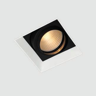 down in-line fixed is the perfect solution for general lighting and features a flood beam mirror reflector set above the black or white internal louvre, optimised to create pools of light on
