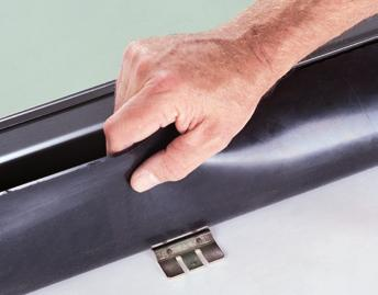 Flexible EPDM side flashing Self-seals around nail penetrations. Long lasting stability and elasticity over an extremely broad temperature range.
