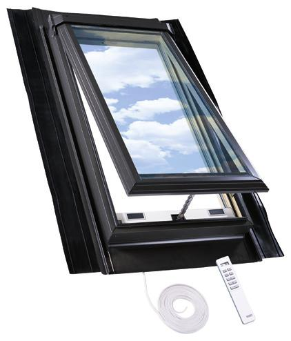 EPDM self-flashed skylight models Electric venting skylight model QVE Not only does the Model QVE electric venting skylight bring abundant natural light into your home, but with the touch of a
