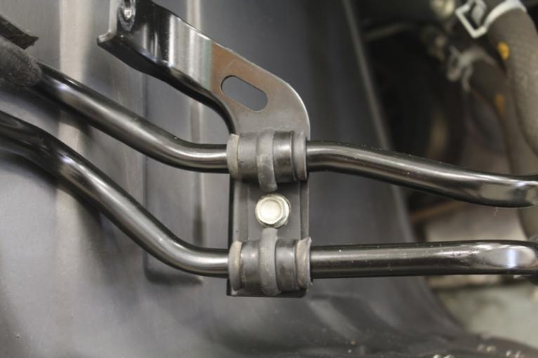 steering cooler mounting brackets.