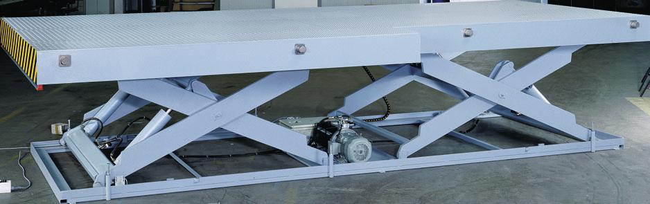 The only difference is the horizontally positioned tandem scissor unit. Lift table ELT 1.