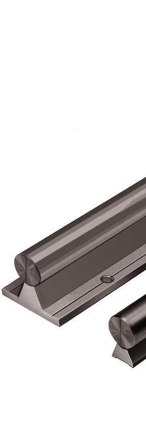 STAR Shaft Support Rails Shaft Support Rails are designed to support the shafts on which open-type Linear Bushings run to prevent them from bending under load.
