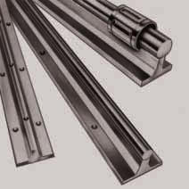 STAR Shaft Support Rails with flange, high-profile version for open-type Standard and Super Linear Bushings Shaft Support Rails, 1050-0.