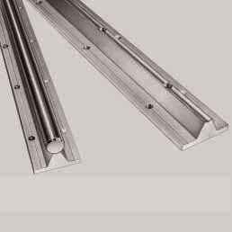 STAR Shaft Support Rails with flange, low-profile version for open-type Standard and Super Linear Bushings Shaft Support Rails, 1050-5..-00 without mounting holes Shaft Support Rails, 1050-6.
