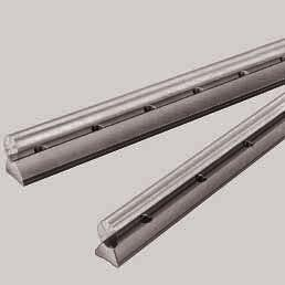 STAR Shaft Support Rails without flange for open-type Standard and Super Linear Bushings Shaft Support Rails, 1016- with fitting edge, with Precision Steel Shaft Material Steel These steel shaft