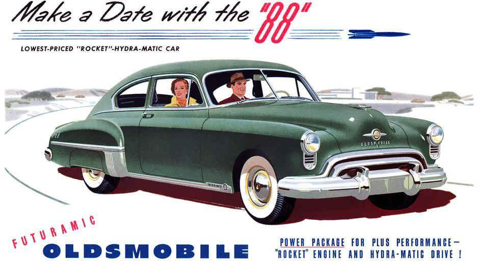 In 1949, the Oldsmobile Rocket 88 was the introduction to muscle cars.