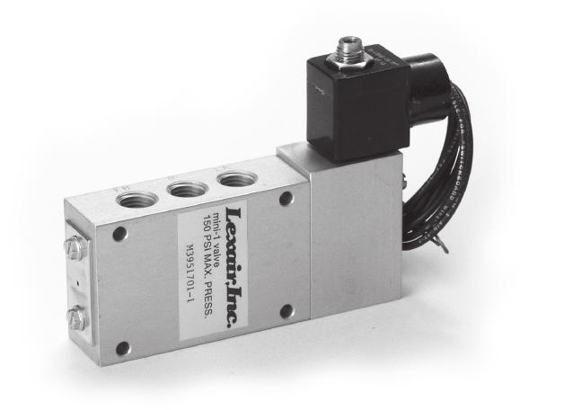 Mini 1 Solenoid Operated Solenoid operators are available in single or double configuration with a wide range of AC and DC voltages, including explosion-proof versions.