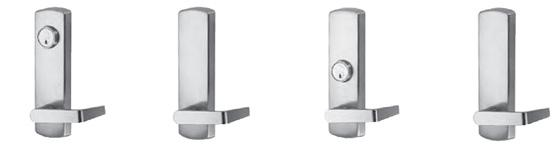 DEVICE OUTSIDE TRIM MODEL 89L AND 89E SERIES ESCUTCHEON LEVERS FEATURES: 1. Non-handed easy installation 2. Easy operating lever handle allows convenient one hand operation. 3.