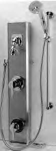 AQUASPEC TEMP-GARD I Temp-Gard Products Z7500 The Z7500 Series is a stainless steel shower unit of 18-gauge shroud with pressure balanced mixing valve, service stops, and metal lever handle.
