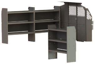 TRADE PACKAGES Base Package Includes: Partition Panels & Wing Kit #40640 + 4064F or 4064C 42 Shelf Unit 42 W x 46 H x 14 D 3 x #48420