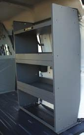 strong & quiet. 26 shelf design allows accessibility from the center aisle & outside from the cargo doors.