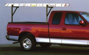 MEDIUM-DUTY PRO III LADDER RACK High-Strength Rails Form Safety Grab Handles Removable Rear Crossbar (No Tools Required) High-Strength Side Channel Reinforcement Fully Gusseted Crossbars Smooth Round