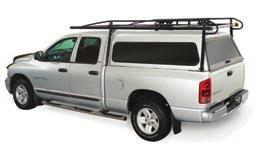 RACKS FOR TRUCKS WITH SHELLS HEAVY-DUTY PRO II CARGO RACK Camper Shell Front Mount Assembly With camper shell applications, the rack footplates cantilever out from