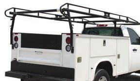 RACKS FOR TRUCKS WITH SERVICE BODIES Big 62 Width Cross Bars Provide More Carrying Capacity. For 8 Ft. and 9 Ft. Service Bodies - Standard and Extended Cab.