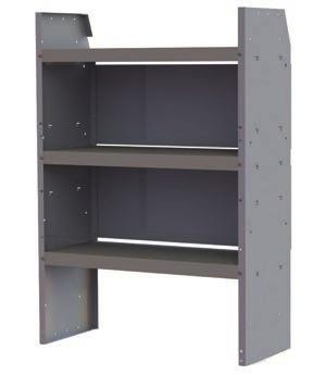 Full steel shelf back provides additional strength and convenience.