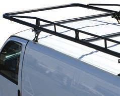 PRO II VAN RACK FEATURES AND BENEFITS Full length of van (165 L x 55 W) for