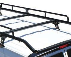 4 heavy-duty 2 diameter crossbars to fully support long and short loads.
