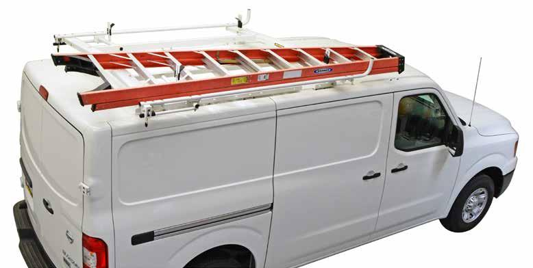 clamp & lock ladder racks The Kargo Master Clamp & Lock Ladder Rack for commercial vans is uniquely designed to easily lock and secure ladders in place.