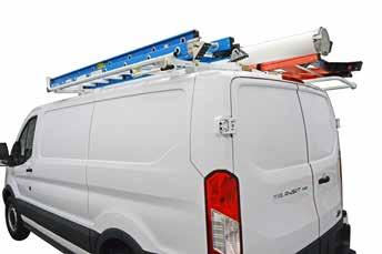 easy, no-drill installation. COMBO RACKS WITH BOTH EZ LO-DOWN AND CLAMP & LOCK UNITS ARE AVAILABLE FOR LOW ROOF AND COMPACT VANS.