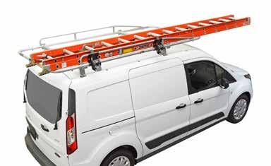 crossbar cargo & ladder van racks #80070 FOR COMPACT CARGO VANS #80080 FOR FULL-SIZED VANS OPTIONAL RETRACTABLE RATCHET STRAPS #90 SHOWN VAN & LADDER TYPES PART # COMPACT CARGO VANS (Ford Transit
